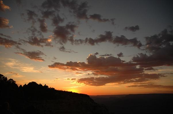 グランドキャニオンの夕陽に間に合いましたー!